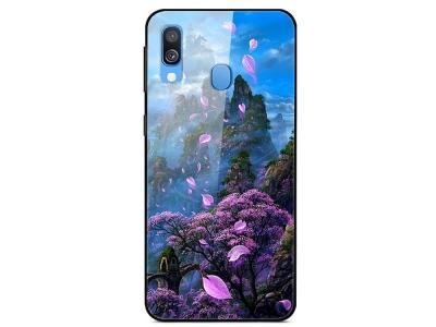Стъклен Гръб Glass fantasy за Samsung Galaxy A20e, Планински цветя