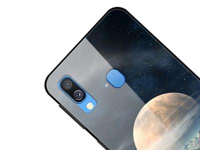 Стъклен Гръб Glass fantasy за Samsung Galaxy A20e, Бяла Планета