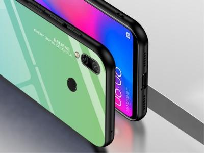 Стъклен Гръб Glass за Huawei Y7 2019, Зелен / Син