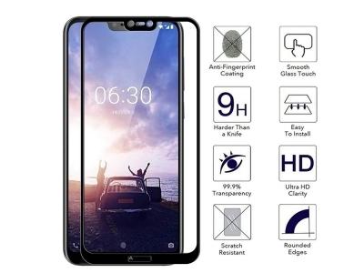 Стъклен Протектор MOCOLO / RURIHAI за Nokia 6.1 Plus, Черен