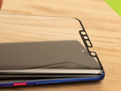 Удароустойчив Протектор 5D Full Glue Nano за Huawei Mate 20 Pro, Черен