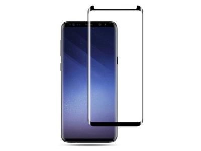Стъклен Протектор 5D Full Glue за Samsung Galaxy S8 Plus, Черен