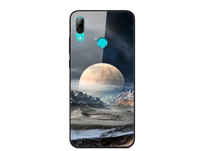 Стъклен Гръб Glass за Huawei P Smart Z / Y9 Prime 2019, Бяла планета
