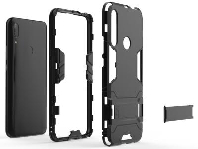 Удароустойчив гръб с Поставка за Huawei P Smart Z / Y9 Prime 2019, Черен