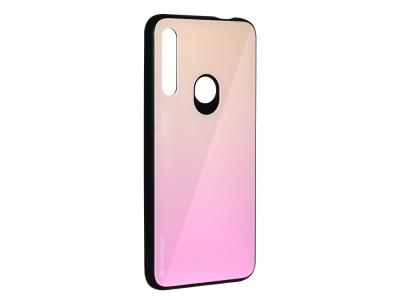 Стъклен Гръб Glass за Huawei P Smart Z 2019, Златист/ Розов