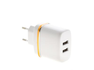 Зарядно устройство 220V 2xUSB 2.4A Micro USB