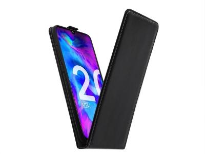 Калъф Тефтер Slim Flexy за Huawei Honor 20 Lite, Черен