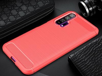 Силиконов гръб Carbon за Huawei Honor 20/ Nova 5T, Червен