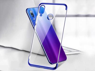 Силиконов гръб с лайсна CLEAR за Huawei P Smart Z /  HuaweiY9 Prime 2019, Син