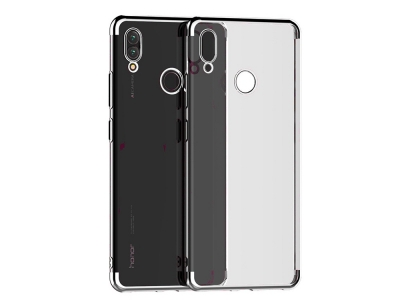 Силиконов гръб с лайсна за CLEAR Huawei P Smart 2019, Сив