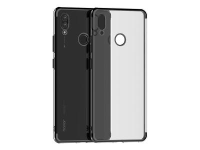 Силиконов гръб с лайсна CLEAR за Huawei P Smart 2019, Черен