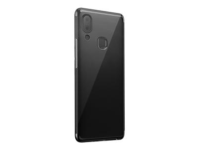 Силиконов гръб с лайсна CLEAR за Samsung Galaxy A40, Черен
