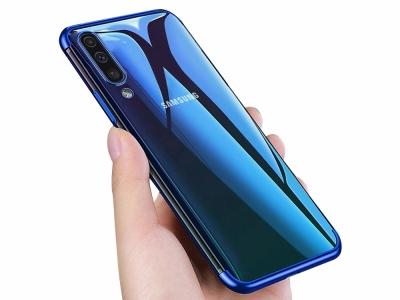 Силиконов гръб с лайсна CLEAR за Samsung Galaxy A50/ Galaxy A30s, Син