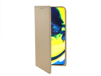 Калъф тефтер Smart Book за Samsung Galaxy A80, Златист