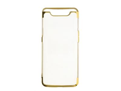 Силиконов гръб с лайсна CLEAR за Samsung Galaxy A80 / A90, Златист