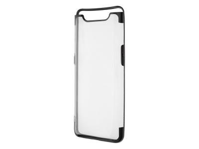 Силиконов гръб с лайсна CLEAR Samsung Galaxy A80 / A90, Черен