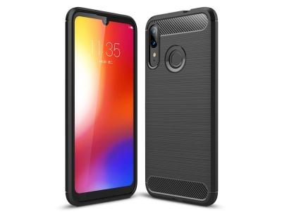Силиконов гръб Carbon за Motorola Moto E6 Plus, Черен