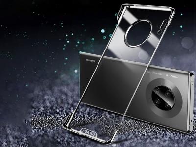 Пластмасов Гръб SULADA Electroplating за Huawei Mate 30,Прозрачен / Черен
