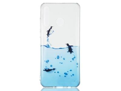 Силиконов Гръб за Huawei P30 Lite/nova 4e, Пингвини