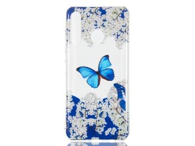 Силиконов Гръб за Huawei P30 Lite/nova 4e, Синя пеперуда
