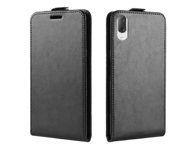 Калъф Тефтер Vertical за Sony Xperia L3, Черен