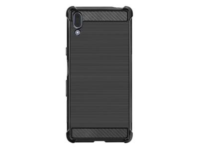 Силиконов Гръб IMAK Carbon за Sony Xperia L3, Черен