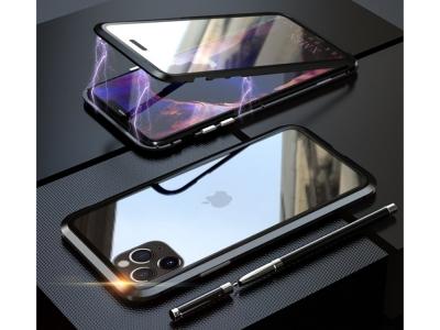 360 Алуминиев магнитен калъф LUPHIE за iPhone 11 Pro Max  (6.5), Черен