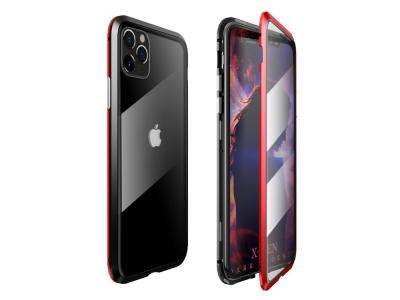360 Алуминиев магнитен калъф LUPHIE за iPhone 11 Pro Max  (6.5), Черен/ Червен