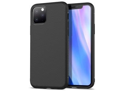 Силиконов Гръб Twill за iPhone 11 Pro Max (6.5), Черен