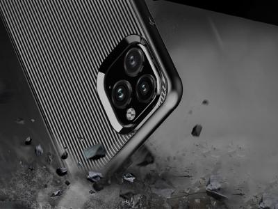 Силиконов Гръб Stripe за iPhone 11 Pro Max (6.5), Черен