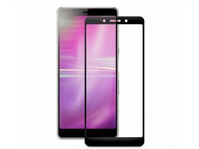 Стъклен Протектор 3D Full за Sony Xperia L3, Черен