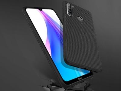 Силиконов гръб Twill за Xiaomi Redmi Note 8T , Черен