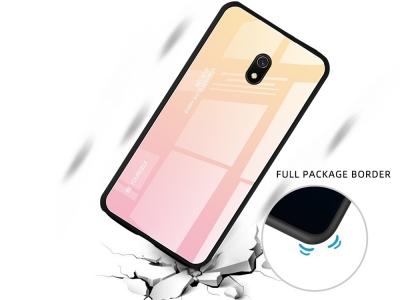 Стъклен Гръб Glass за Xiaomi Redmi 8A, Златист / Розов