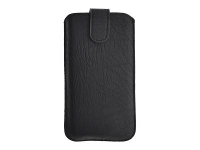 Универсален калъф с издърпване Kora 2 за Samsung i9100 Galaxy S2 / LG L7, Черен