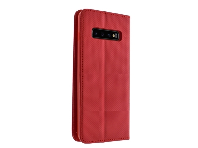 Калъф Тефтер Smart за Samsung Galaxy S10 Plus , Червен