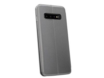 Калъф Тефтер ELEGANCE за Samsung Galaxy S10 Plus, Сив