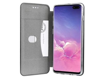 Калъф Тефтер ELEGANCE за Samsung Galaxy S10 Plus, Черен