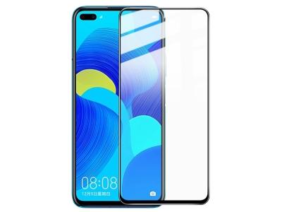 Стъклен Протектор 5D Full Glue за Huawei Nova 6, Черен