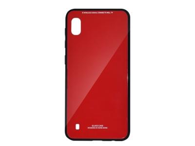 Стъклен гръб Glass за Samsung Galaxy A10, Червен