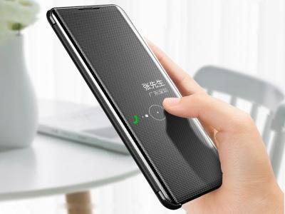 Калъф Тефтер View Window за Samsung Galaxy A70, Черен