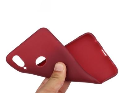 Силиконов Гръб Matte за Samsung Galaxy A10s, Червен