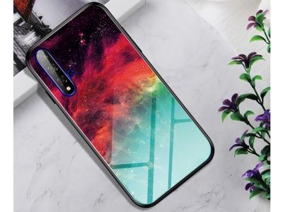 Стъклен Гръб Glass за Huawei Honor 20S / Honor 20 / Nova 5T, Цветна мъглявина