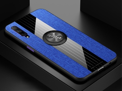 Удароустойчив гръб с Поставка за Huawei P Smart Pro (2019), Син