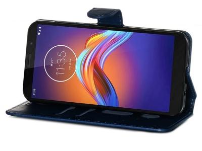 Калъф Тефтер за Motorola Moto E6 Play, Син