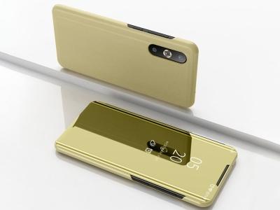 Калъф Тефтер View Window Mirror за Samsung Galaxy A50/A50s/A30s, Златист