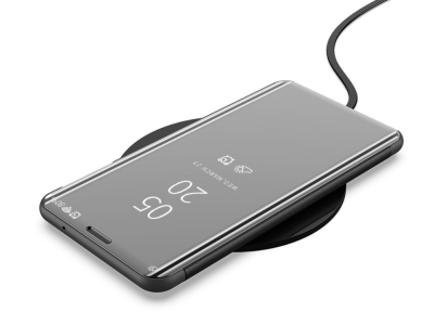 Калъф Тефтер View Window Mirror за Samsung Galaxy A50/A50s/A30s, Черен