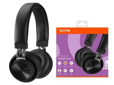 Слушалки с микрофон Bluetooth ACME BH203, Черен