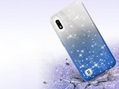 Силиконов Гръб SHINING за Samsung Galaxy A10, Сребрист/ Син