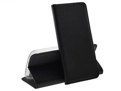Калъф тефтер Smart Book за LG Q60 , Черен