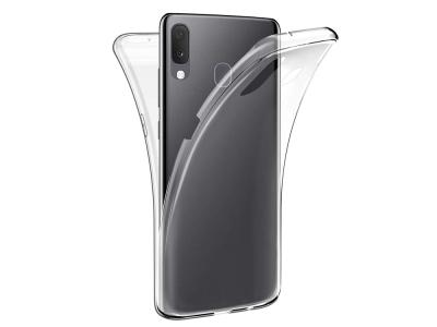 360 градуса Силиконов Калъф за Samsung Galaxy A20e, Прозрачен